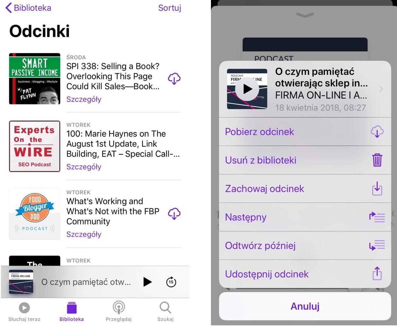 aplikacja do słuchania podcastów