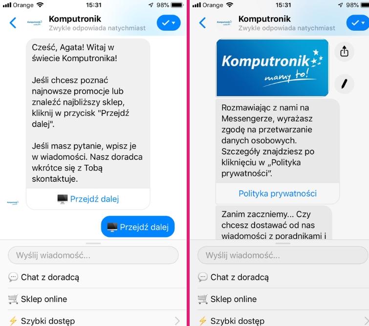 chatboty w polsce