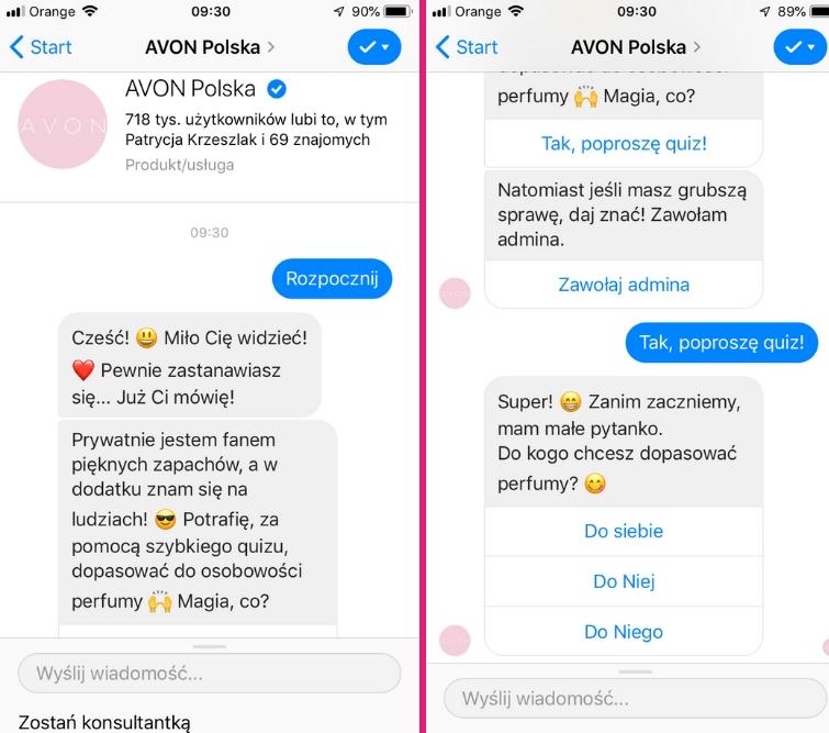 przykłady chatbotów w e-commerce