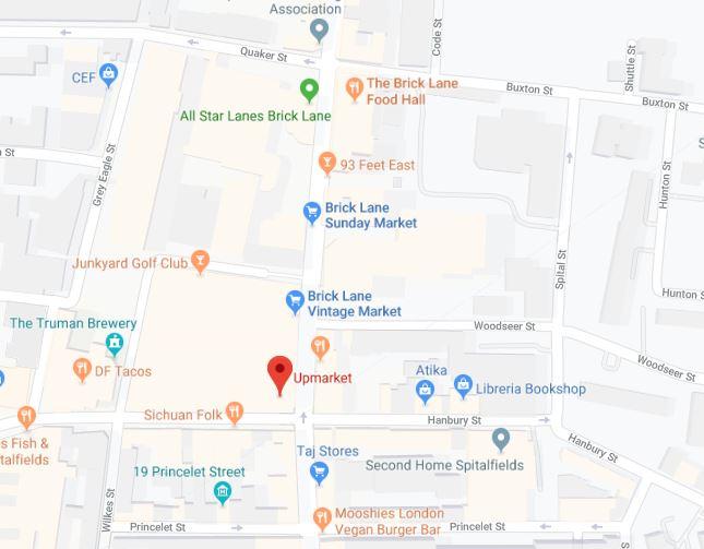 Brick lane Market mapa