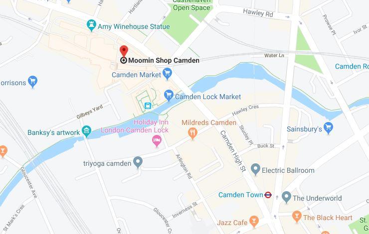 camden market in London sklep z muminkami
