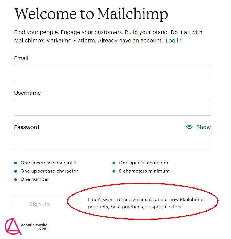 mailerlite czy mailchimp rejestracja mailchimp
